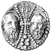 Golden Bull Pope Leo X. The obverse. Depicts Peter and Paul ...